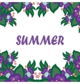 beautiful card with the word summer vector image vector image