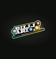 billiard mascot modern professional sport vector image