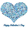 blue heart from small hearts vector image