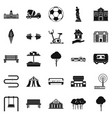 borough icons set simple style vector image vector image