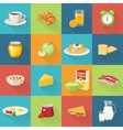 Breakfast Food Square Icon Set vector image vector image