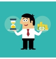 Business life time is money concept vector image vector image