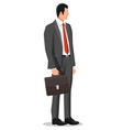 businessman in black suit male character vector image
