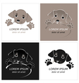 Cartoon cute outline dog vector image vector image