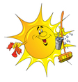 Cartoon Sun Cleaner vector image vector image