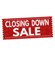 closing down sale grunge rubber stamp vector image vector image