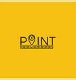 coin point logo location of money logotype vector image vector image