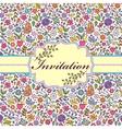 colorful floral invitation card vector image vector image