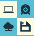 computer icons set collection of diskette tree vector image vector image
