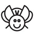 Cute insect beetle - vector image vector image