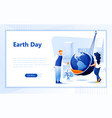 earth day flat web page design template vector image