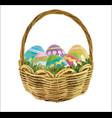 easter egg basket image vector image vector image