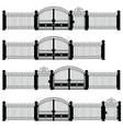 fence set in black color vector image vector image