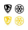 figure skating emblem vector image vector image