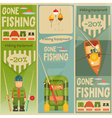 fishing posters vector image