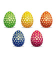 flower pattern on easter eggs easter eggs icon vector image vector image