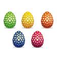 flower pattern on easter eggs easter eggs icon vector image