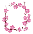 Flowers frame isolated on white vector image vector image