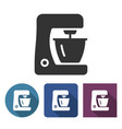 food processor icon in different variants vector image vector image