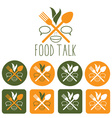 food talk and icon set vector image