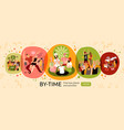 free time activities banner vector image