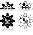 Gear and factory vector image vector image
