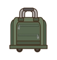 green bag briefcase traveler business vacation vector image vector image