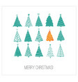 greeting card with green and orange christmas vector image vector image
