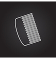 hairbrush icon vector image vector image