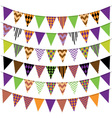 Halloween Bunting Banner Collection vector image vector image