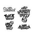 halloween calligraphic logo set vector image vector image