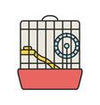 hamster cage color icon vector image