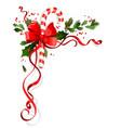 holiday winterl decor vector image vector image