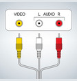 input rca audio video jacks with cable