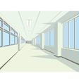 Interior of school or college hall vector image