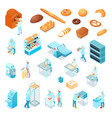 isometric bakery set vector image