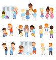 kids bullying the weaks set bad behavior vector image vector image