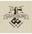 Lighthouse emblem for t shirt vector image vector image