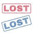 lost textile stamps vector image vector image