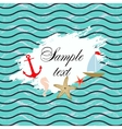 Marine background Template design vector image vector image