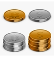 modern gold and silver money collection vector image