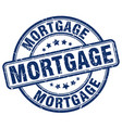 mortgage blue grunge round vintage rubber stamp vector image vector image