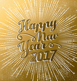 New Year 2017 gold firework explosion design vector image vector image