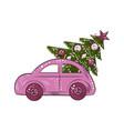 new year theme christmas tree vector image vector image