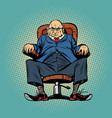 old boss in the chair vector image vector image