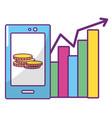 online stock exchange vector image vector image