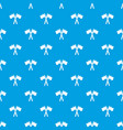 paintball sport flags pattern seamless blue vector image
