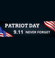 patriot day banner vector image vector image