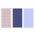 polka dots pattern banner set vector image