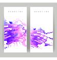 purple blots vector image vector image